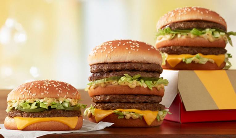 McDonald's line of Big Mac's.