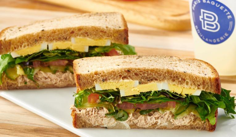 Paris Baguette Tuna Salad Egg Sandwich.