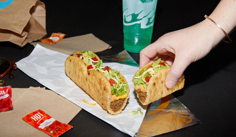 Combining three mini chalupas to create the longest shell in Taco Bell history, the Triplelupa marks Taco Bell's first ever tear-apart menu item.