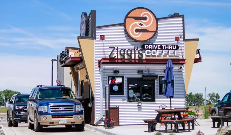 Ziggi's Coffee drive thru location.