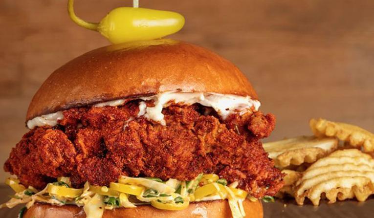 Bruxie spicy chicken sandwich