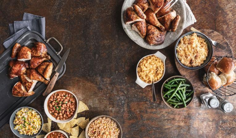 Cowboy Chicken platter of food.
