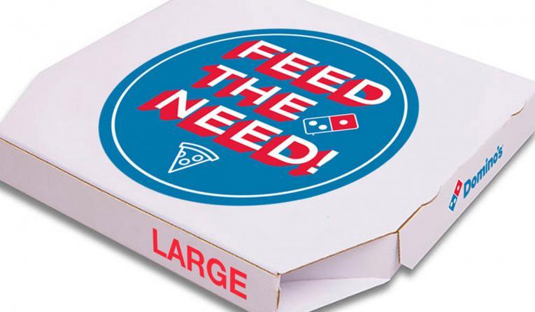 Domino's Feed the Need Pizza Box.