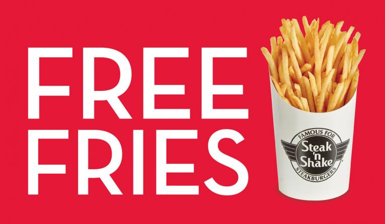 Steak 'n Shake Free Fries image.