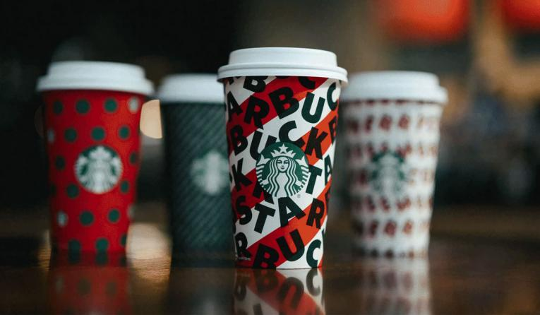 Starbucks holiday red cup.