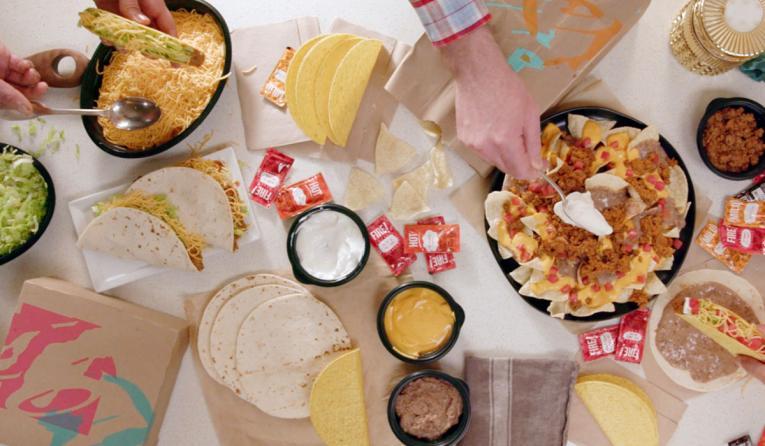 Taco Bell at home taco bar.