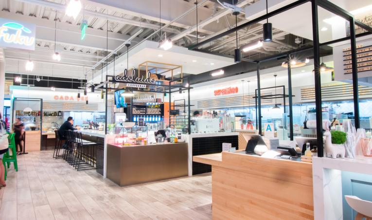 Santa Monica food hall adapts to restaurant regulations from coronavirus.
