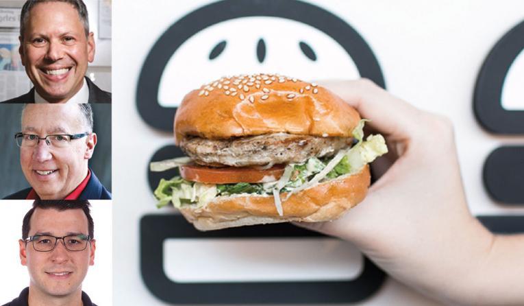 Burgerium turkey burger with headshots
