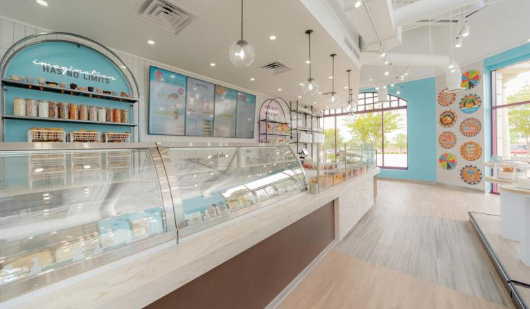 Great American Cookies and Marble Slab Creamery interior.