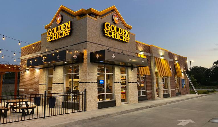 Golden Chick exterior of restaurant.