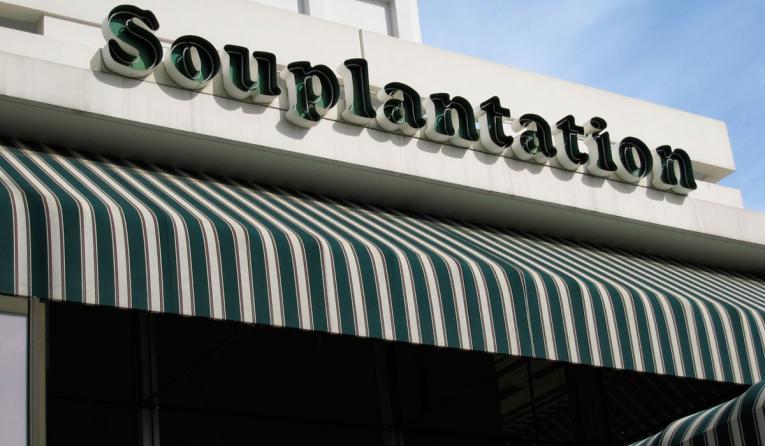 Storefront of Souplantation.