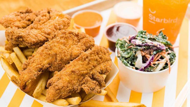 Super premium fast food restaurant chain Starbird offers high quality chicken.