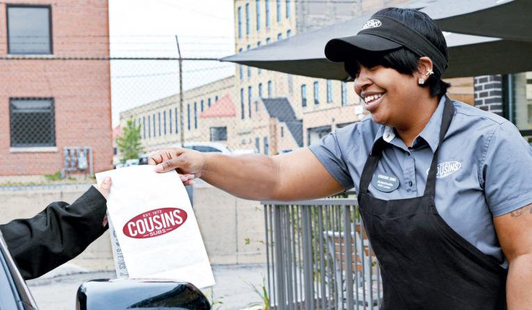 Cousins Subs curbside delivery