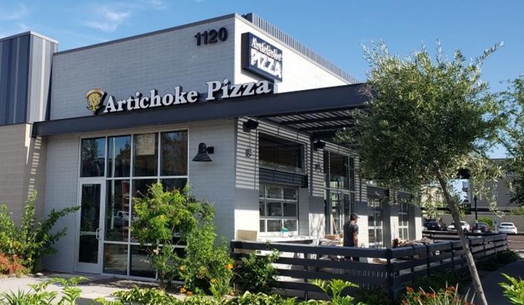 Artichoke Basille's Pizza exterior.