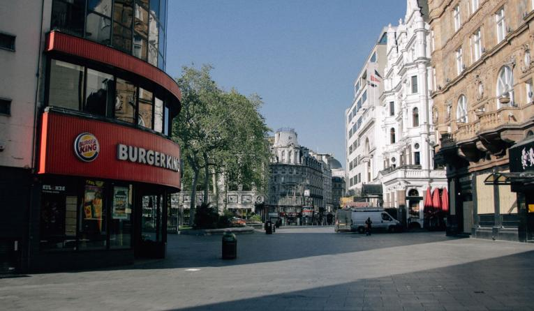 Burger King exterior in London.