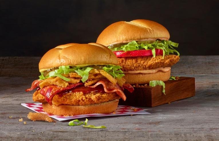 Checkers & Rally's chicken sandwiches.