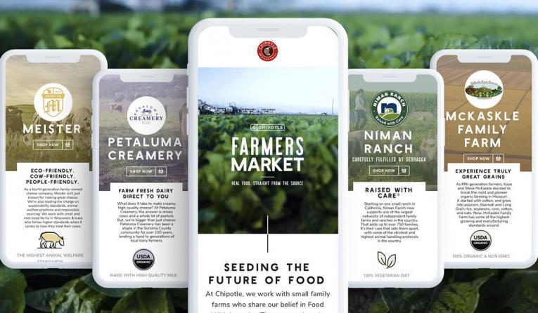 Chipotle's virtual farmer's market.