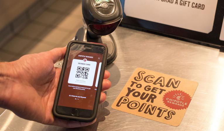 Chipotle rewards scanner.