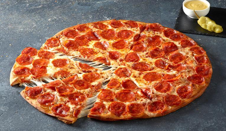 Papa John's Shaq-a-Roni Pizza.