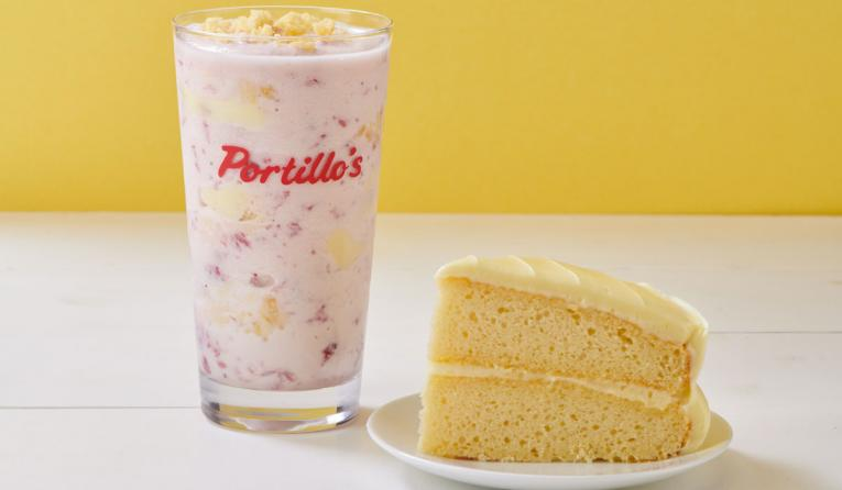 Portillo's Strawberry Lemon Cake Shake.