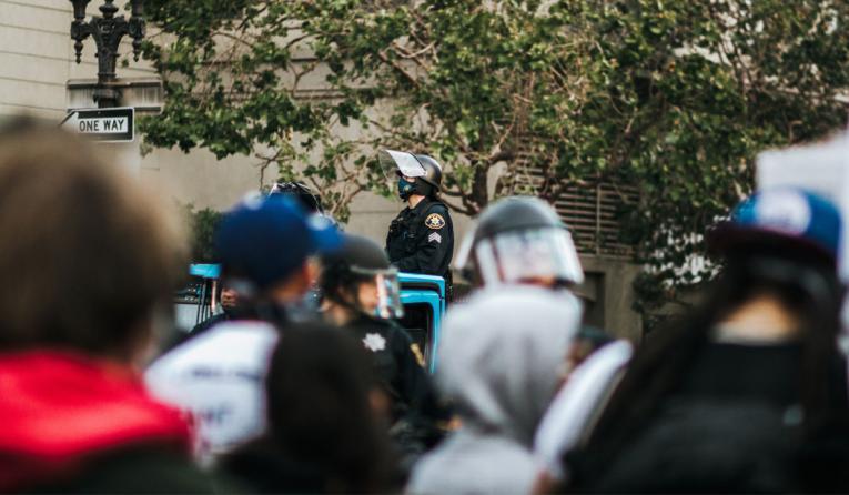 Cap amid protests.