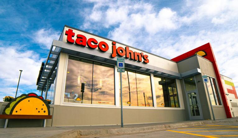 Taco John's exterior restaurant.