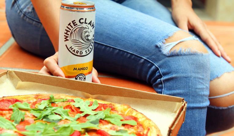 Blaze Pizza White Claw Pizza.