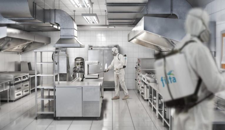 New eco friendly service provides anti coronavirus sanitizing service for restaurants.
