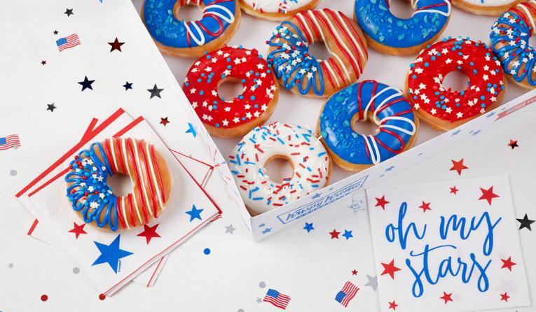 Krispy Kreme 'Indoughpendence Day' Doughnuts.