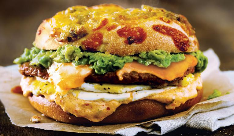 Beyond Sausage Spicy Sunrise egg sandwich.