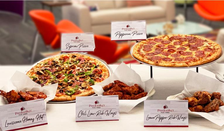 Chuck E. Cheese's Pasqually's Pizza & Wings.