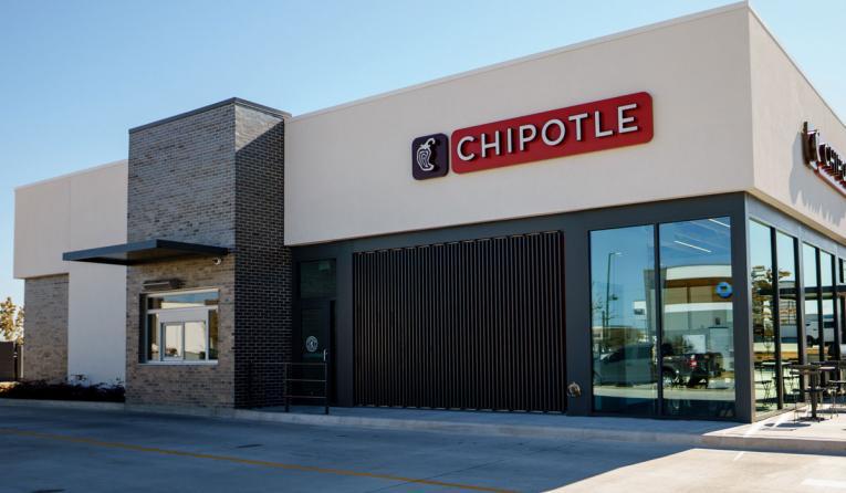 Chipotle Chipotlane drive thru restaurant.