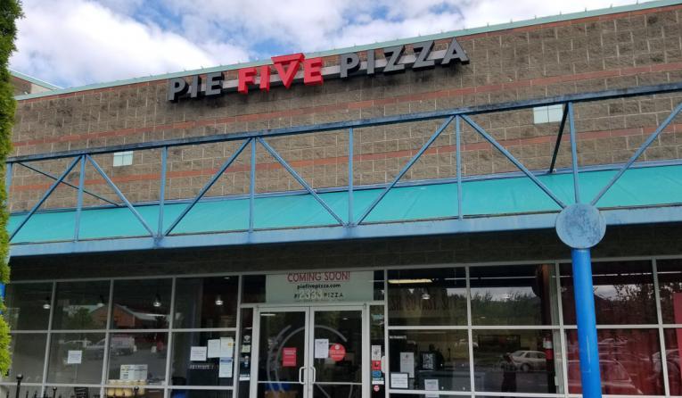 Pie Five Pizza Co. store exterior.