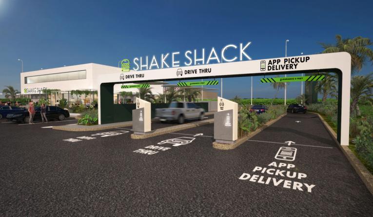 Shake Shack drive-thru mockup.