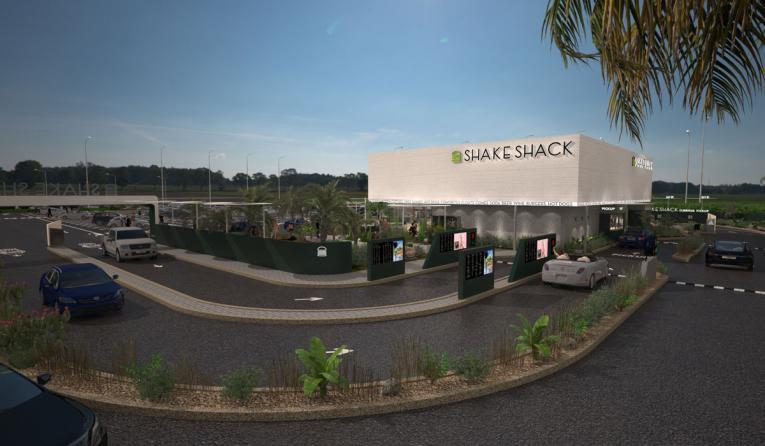 Shake Shack drive thru rendering.