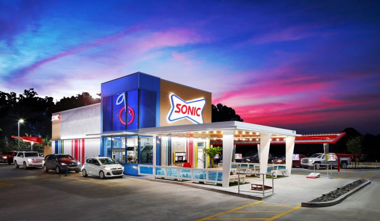 Sonic Drive-In exterior of restaurant.