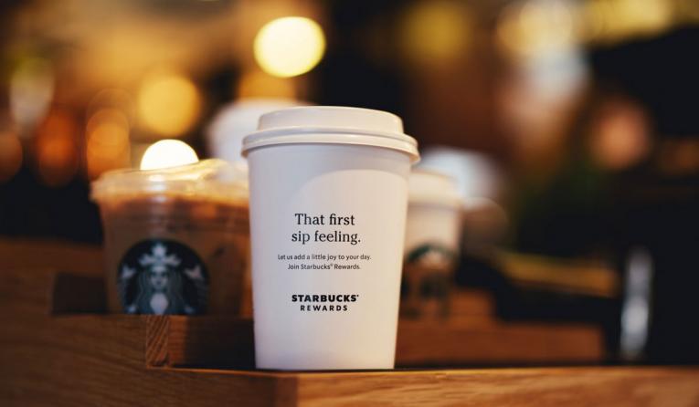 Starbucks loyalty cup.