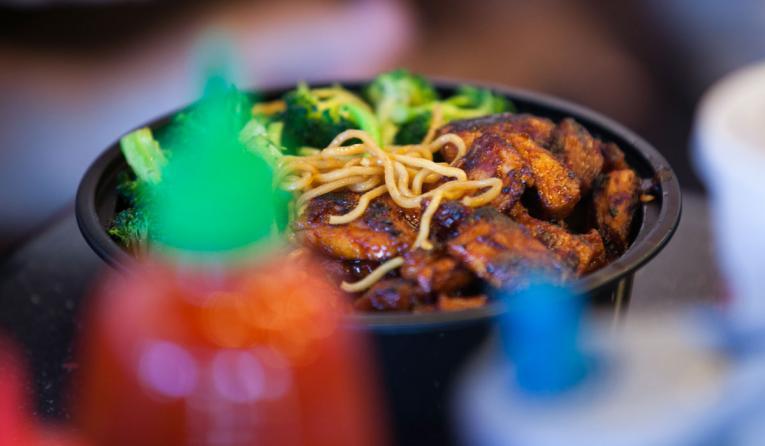 Teriyaki Madness bowl of food.