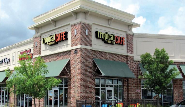 Tropical Smoothie Cafe exterior of restaurant.