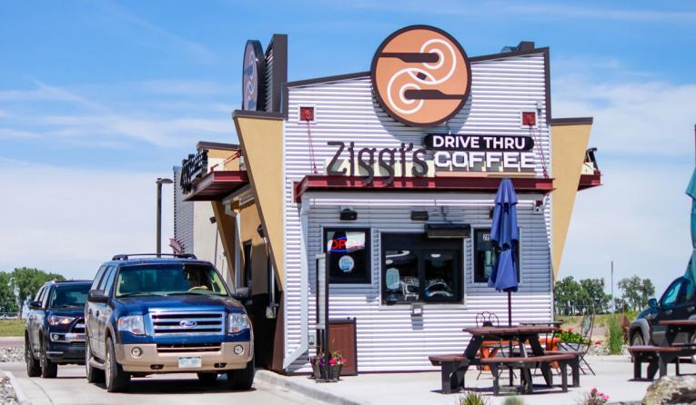 Ziggi's Coffee's drive thru.