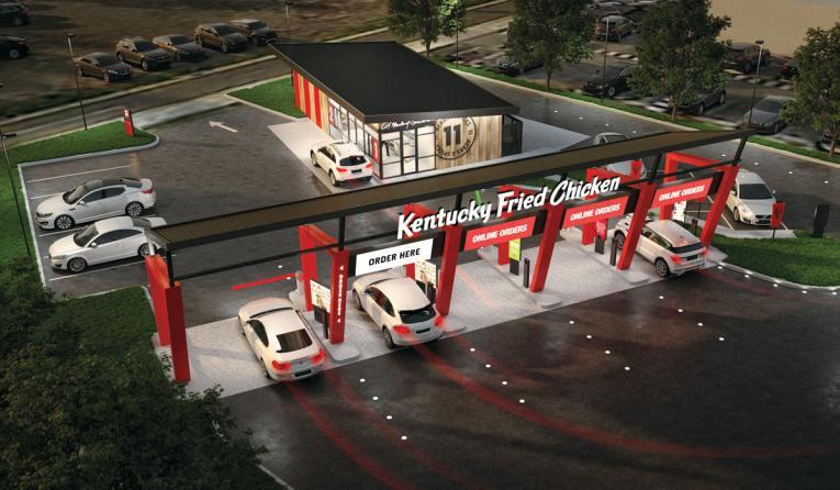 Concept design for KFC drive-thru