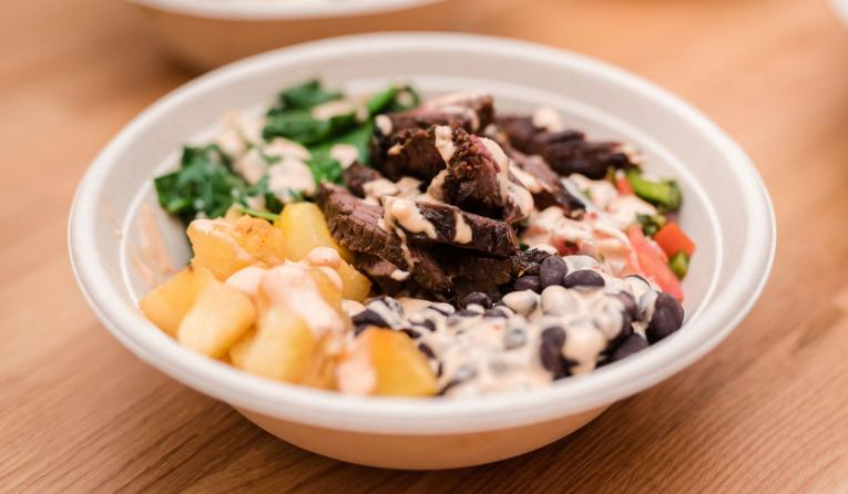 Mexi Steak Bowl at Organic Krush Eatery.
