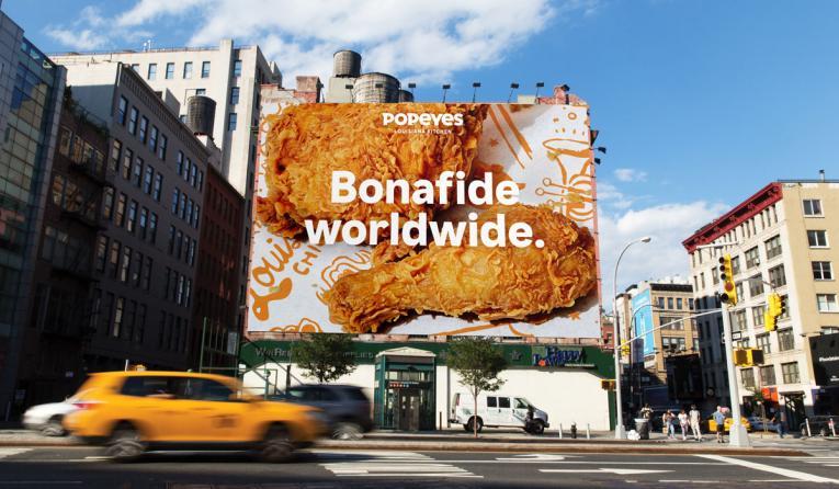 Popeyes billboard.