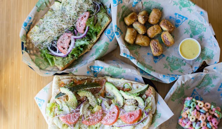 Cheba Hut sandwiches.