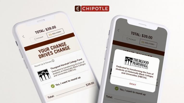 Chipotle app screengrab.