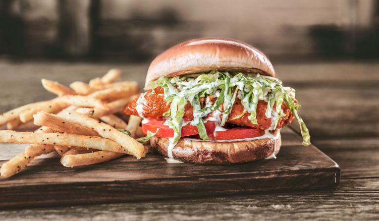 Cowboy Chicken Buffalo Chicken Sandwich.