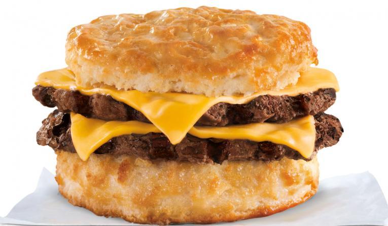 Hardee's breakfast biscuit.