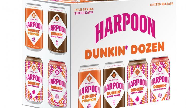 Dunkin' beer with Harpoon.