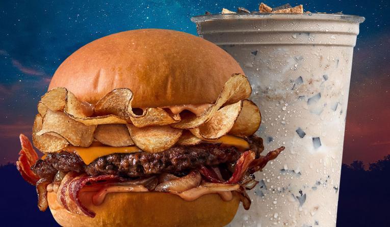 Mooyah burger and shake.