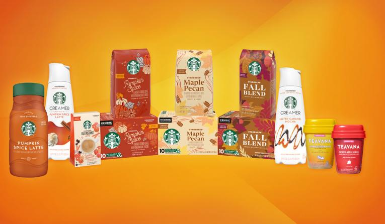 Starbucks Pumpkin Spice products.